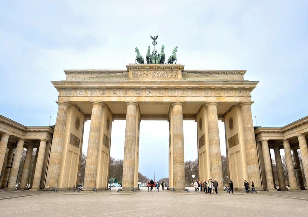 Porte de Brandebourg, voyage d'affaires à Berlin