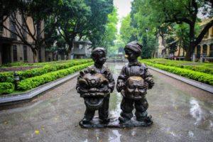 statues de l'ile de Shamian, voyage d'affaires à Guangzhou