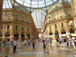 Galleria Vittorio Emanuele II, voyage d'affaires à Milan