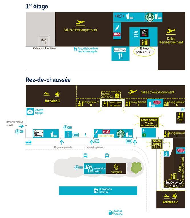 Plan aeroport Nantes