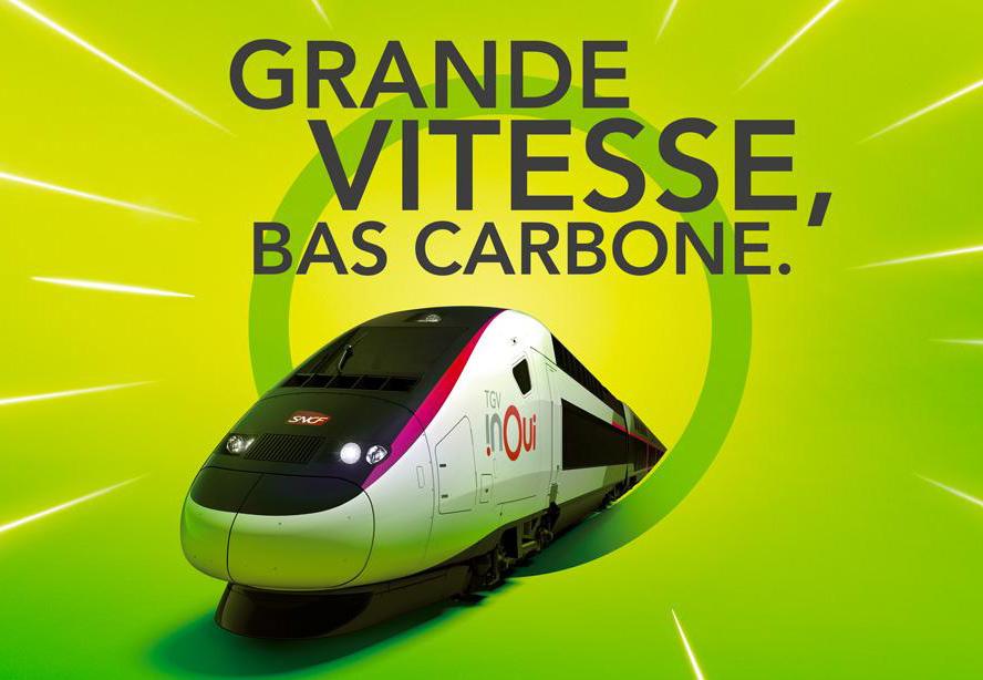 TGV Grande vitesse bas Carbone