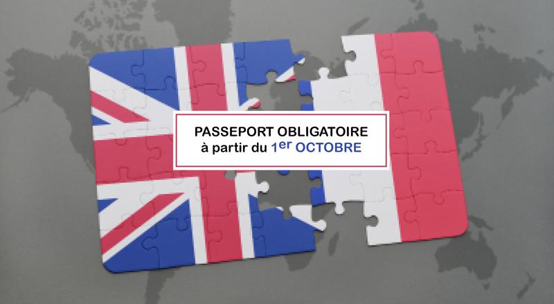 Passeport Obligatoire à partir du 1er octobre