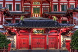 Buddha Tooth Relic Temple Front Doors